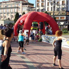 Walking and browsing different sport options - Vicenza, Italy